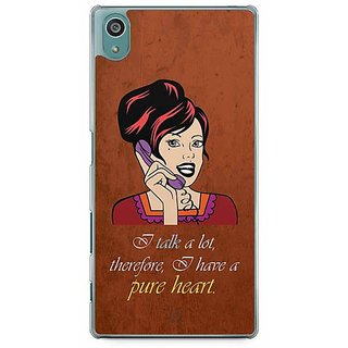 YuBingo I Talk A Lot, Therefore I Have A Pure Heart Designer Mobile Case Back Cover For Sony Xperia Z5