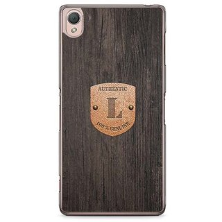 YuBingo Monogram With Beautifully Written Wooden And Metal (Plastic) Finish Letter L Designer Mobile Case Back Cover For Sony Xperia Z3