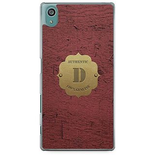 YuBingo Monogram With Beautifully Written Wooden And Metal (Plastic) Finish Letter D Designer Mobile Case Back Cover For Sony Xperia Z5