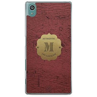 YuBingo Monogram With Beautifully Written Wooden And Metal (Plastic) Finish Letter M Designer Mobile Case Back Cover For Sony Xperia Z5