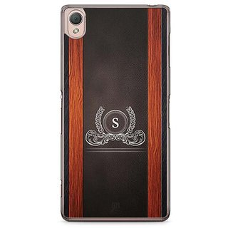 YuBingo Monogram With Beautifully Written Wooden And Leather (Plastic) Finish Letter S Designer Mobile Case Back Cover For Sony Xperia Z3