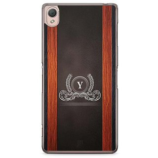 YuBingo Monogram With Beautifully Written Wooden And Leather (Plastic) Finish Letter Y Designer Mobile Case Back Cover For Sony Xperia Z3