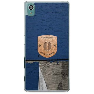 YuBingo Monogram With Beautifully Written Wooden And Metal (Plastic) Finish Letter O Designer Mobile Case Back Cover For Sony Xperia Z5