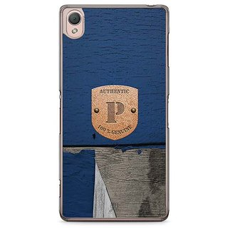 YuBingo Monogram With Beautifully Written Wooden And Metal (Plastic) Finish Letter P Designer Mobile Case Back Cover For Sony Xperia Z3