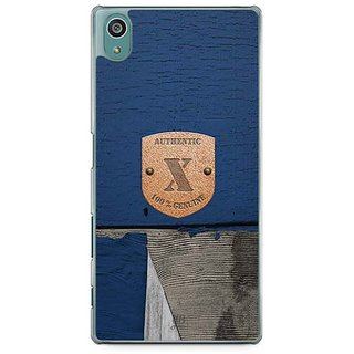 YuBingo Monogram With Beautifully Written Wooden And Metal (Plastic) Finish Letter X Designer Mobile Case Back Cover For Sony Xperia Z5