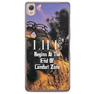 YuBingo Life Begins At The End Of Comfort Zone Designer Mobile Case Back Cover For Sony Xperia Z3