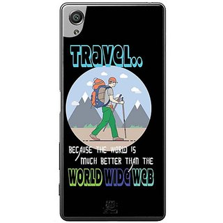 YuBingo The World Is Better Than World Wide Web Designer Mobile Case Back Cover For Sony Xperia XA