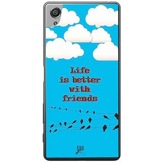 YuBingo Life Is Better With Friends Designer Mobile Case Back Cover For Sony Xperia XA