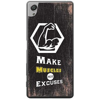 YuBingo Make Muscles, Not Excuses Designer Mobile Case Back Cover For Sony Xperia XA