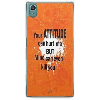 YuBingo My Attitude Can Kill You Designer Mobile Case Back Cover For Sony Xperia Z5
