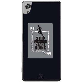 YuBingo Stop Wishing, Start Doing Designer Mobile Case Back Cover For Sony Xperia XA