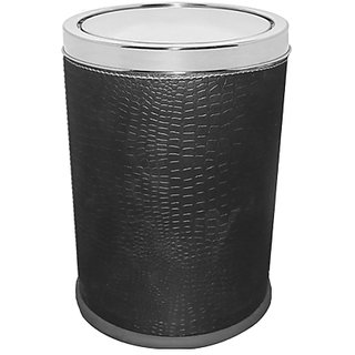 STAINLESS STEEL LEATHERITE SWING BIN (C.L. BLACK) (8 X 12)