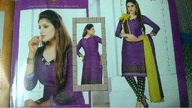 cotton dress material colour Purple (Unstitched)