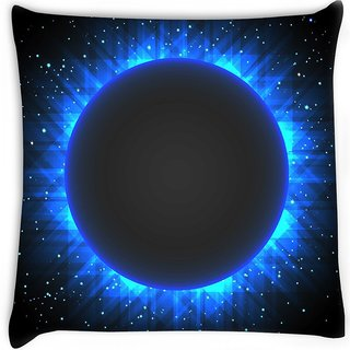 Snoogg  eclipse background Digitally Printed Cushion Cover Pillow 18 x 18 Inch