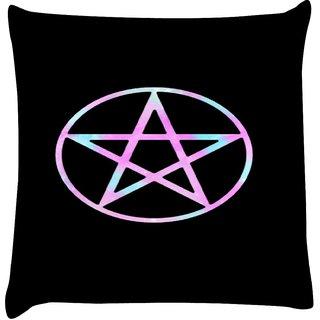Snoogg CANDY GALAXY  Digitally Printed Cushion Cover Pillow 18 x 18 Inch