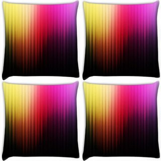 Snoogg Pack Of 3 Multicolor Pattern Design Digitally Printed Cushion Cover Pillow 18 x 18Inch