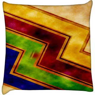 snoogg storm wave 2389  Digitally Printed Cushion Cover Pillow 18 x 18 Inch