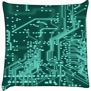 Snoogg digital board 2409  Digitally Printed Cushion Cover Pillow 18 x 18 Inch