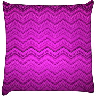 Snoogg purple wave pattern 2426  Digitally Printed Cushion Cover Pillow 18 x 18 Inch