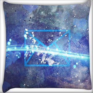 Snoogg Youve got universal mail Digitally Printed Cushion Cover Pillow 18 x 18 Inch