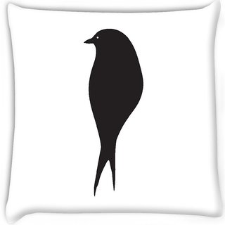 Snoogg  bird vector element Digitally Printed Cushion Cover Pillow 18 x 18 Inch