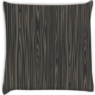 Snoogg  black wooden texture Digitally Printed Cushion Cover Pillow 18 x 18 Inch