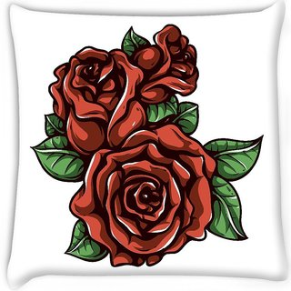 Snoogg  floral vector element  Digitally Printed Cushion Cover Pillow 18 x 18 Inch