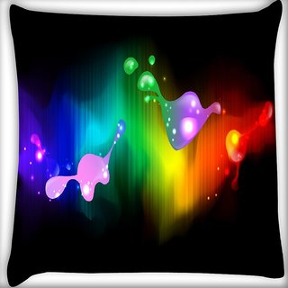 Snoogg Abstract Paint Splash Digitally Printed Cushion Cover Pillow 18 x 18 Inch