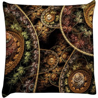 Snoogg fractal domes 2632  Digitally Printed Cushion Cover Pillow 18 x 18 Inch