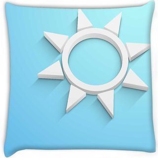 Snoogg  abstract summer background  Digitally Printed Cushion Cover Pillow 18 x 18 Inch