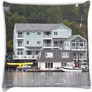 Snoogg  alaska transportation Digitally Printed Cushion Cover Pillow 18 x 18 Inch