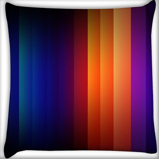 Snoogg Multicolor Rays Digitally Printed Cushion Cover Pillow 18 x 18 Inch