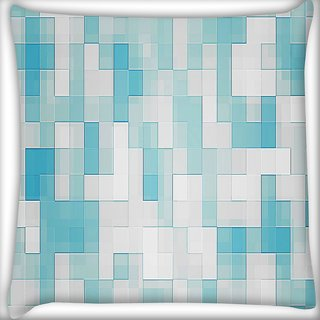 Snoogg Glazy Blocks Digitally Printed Cushion Cover Pillow 18 x 18 Inch