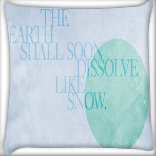 Snoogg Dissolve Like Snow Digitally Printed Cushion Cover Pillow 18 x 18 Inch