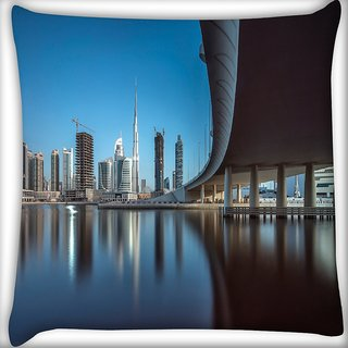 Snoogg Sealing View Digitally Printed Cushion Cover Pillow 18 x 18 Inch