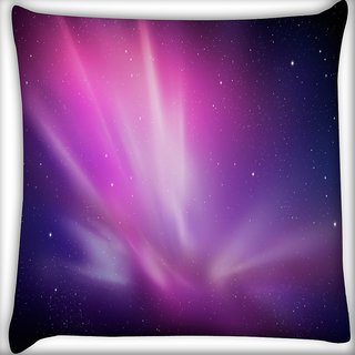 Snoogg Galaxy Digitally Printed Cushion Cover Pillow 18 x 18 Inch