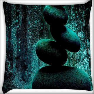 Snoogg Amazing Stones Digitally Printed Cushion Cover Pillow 18 x 18 Inch