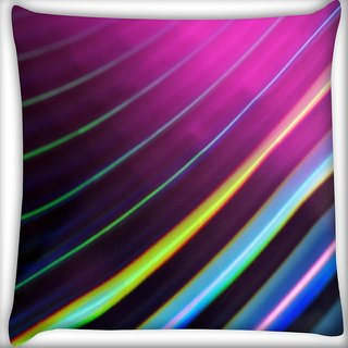 Snoogg Colour Lines Digitally Printed Cushion Cover Pillow 18 x 18 Inch