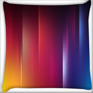 Snoogg Red And Blue Design Digitally Printed Cushion Cover Pillow 18 x 18 Inch