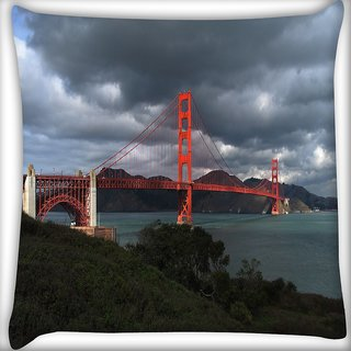 Snoogg Red Big Sealing Digitally Printed Cushion Cover Pillow 18 x 18 Inch