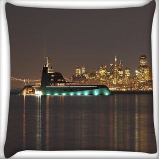Snoogg Big Samreen Digitally Printed Cushion Cover Pillow 18 x 18 Inch