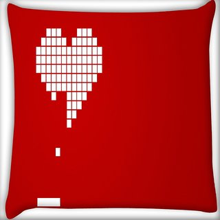Snoogg Heart Breaking Digitally Printed Cushion Cover Pillow 18 x 18 Inch