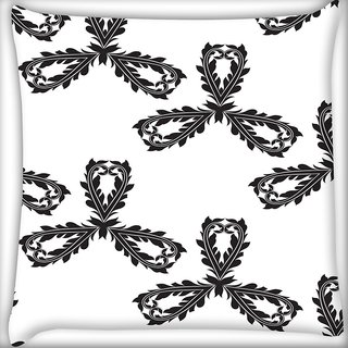Snoogg Black Pattern Digitally Printed Cushion Cover Pillow 18 x 18 Inch