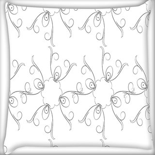 Snoogg Pencil Sketch Digitally Printed Cushion Cover Pillow 18 x 18 Inch