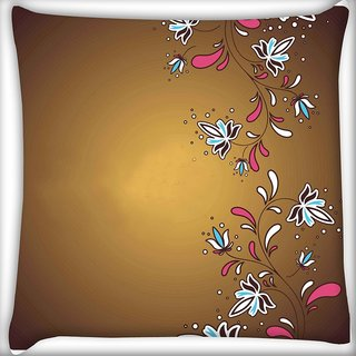 Snoogg Simple Text Brown Digitally Printed Cushion Cover Pillow 18 x 18 Inch