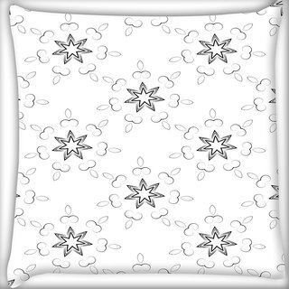 Snoogg Star Pattern Digitally Printed Cushion Cover Pillow 18 x 18 Inch