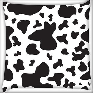 Snoogg Black Patch Pattern Digitally Printed Cushion Cover Pillow 18 x 18 Inch