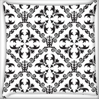 Snoogg Grey Pattern Digitally Printed Cushion Cover Pillow 18 x 18 Inch
