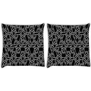 Snoogg Abstract Locks Digitally Printed Cushion Cover Pillow 22 x 22 Inch