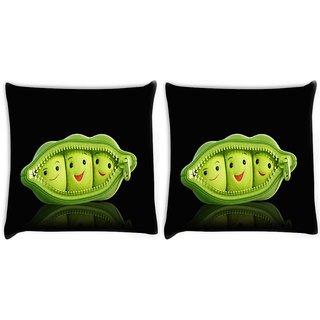 Snoogg Grren Peas Digitally Printed Cushion Cover Pillow 22 x 22 Inch